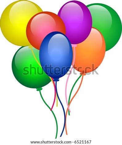 Balloons for party - stock vector