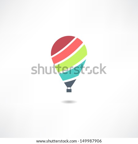 Balloons icon - stock vector