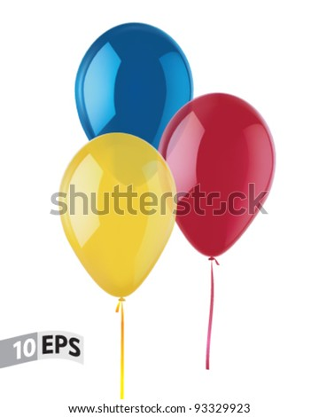 Balloons isolated on white. Vector illustration - stock vector
