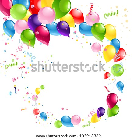 Balloons swirl with space for text - stock vector