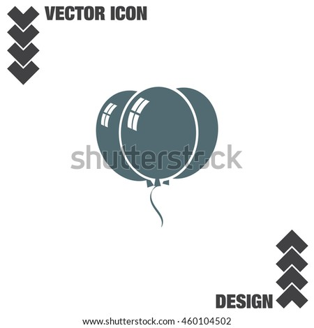 Balloons vector icon. Birthday party celebration symbol. Holiday decoration sign.