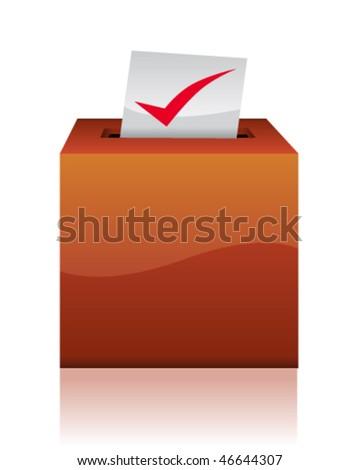 Ballot box - stock vector