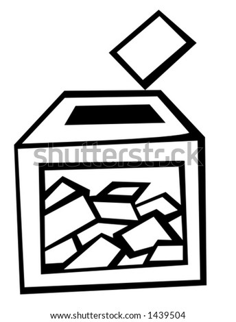 ballot box at election day - stock vector