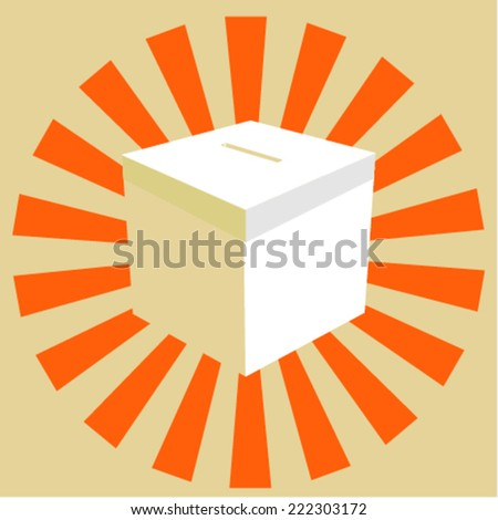 Ballot box . Illustration on  background  - stock vector