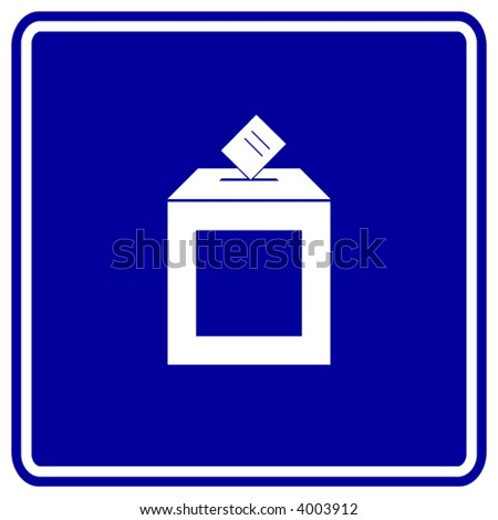 ballot box sign - stock vector