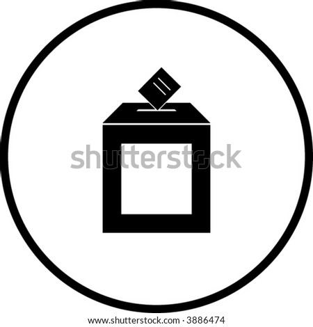 ballot box symbol - stock vector