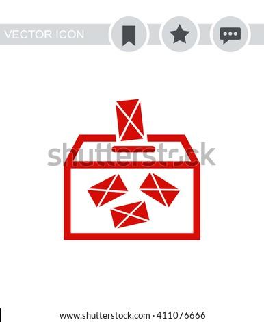 Ballot box vote Icon.  - stock vector