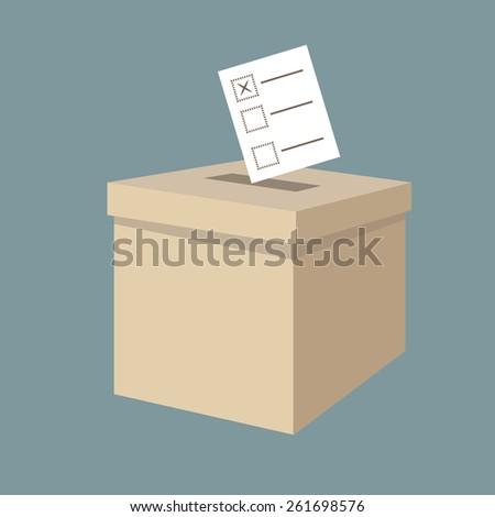 ballot box vote,vector - stock vector