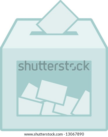 ballot vote box - stock vector
