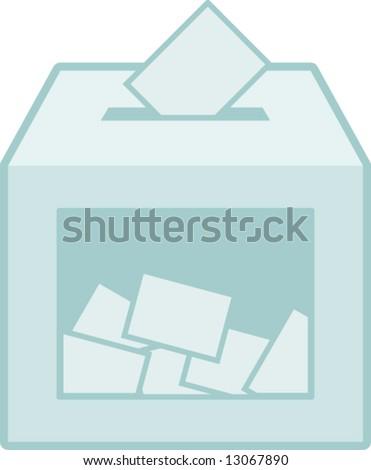 ballot vote box - stock vector