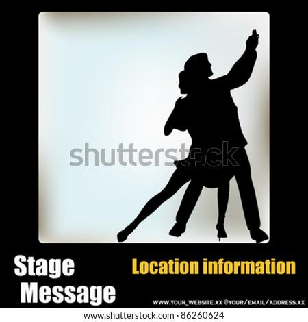 Ballroom Dance vector flyer, for an event or Dance School - stock vector