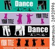 Ballroom Dancing Web Banner Templates - stock vector