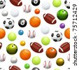 Balls, seamless pattern 10eps - stock photo