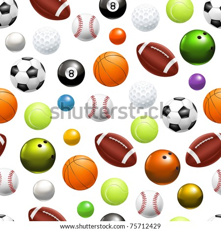 Balls, seamless pattern 10eps - stock vector