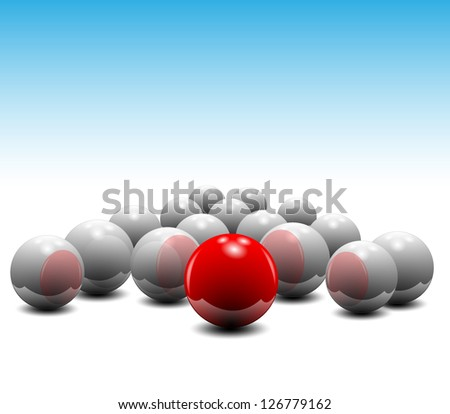 balls vector in perspective isolated on background