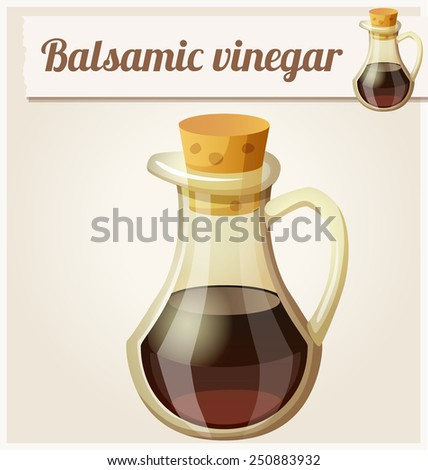 Balsamic vinegar. Detailed Vector Icon. Series of food and drink and ingredients for cooking. - stock vector
