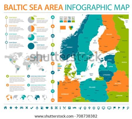 Baltic sea area map detailed info stock vector hd royalty free baltic sea area map detailed info graphic vector illustration publicscrutiny Choice Image