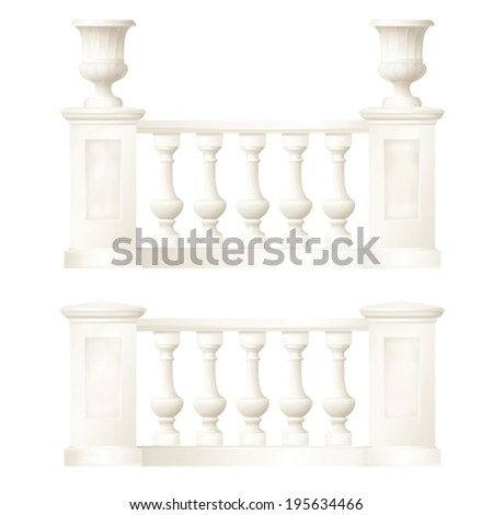 balustrade,vector drawing - stock vector