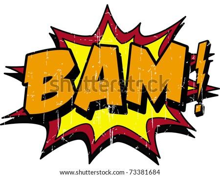 bam - stock vector