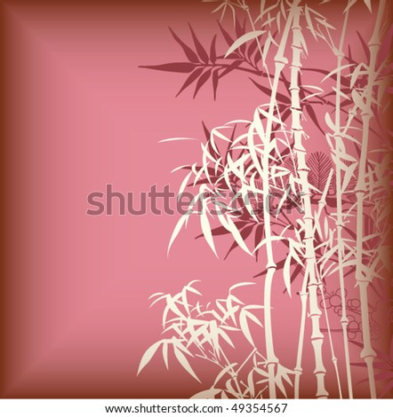 Bamboo and Blossom 4 - stock vector