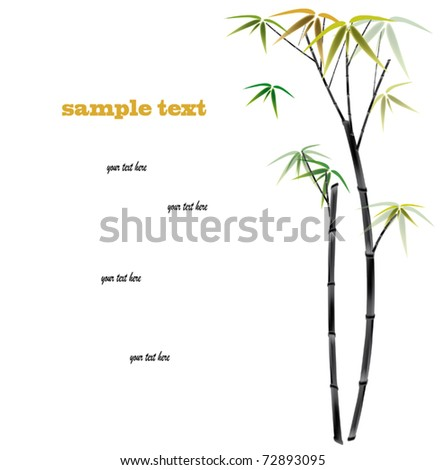 Bamboo background with copy space.  vector illustration - stock vector