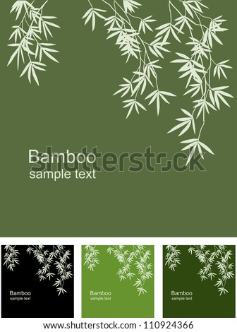 Bamboo floral background, vector image space for information - stock vector