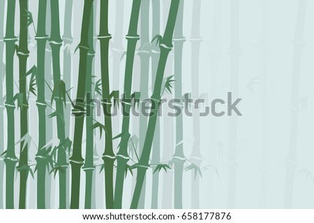 bamboo forest background. vector illustration