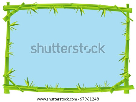 Bamboo Frame Concept Illustration in Vector - stock vector