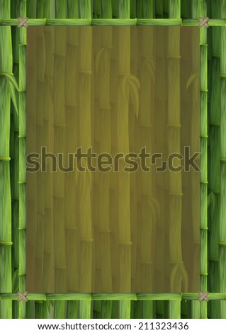bamboo frame for banners, ads, menu, poster etc - stock vector