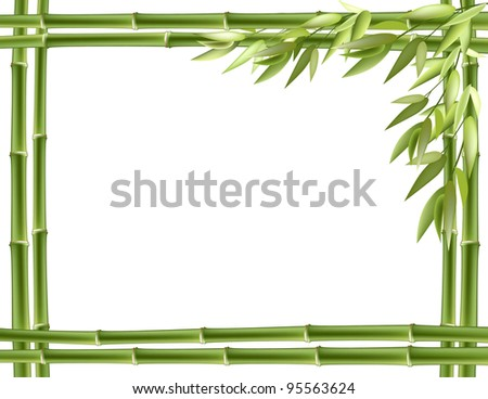 Bamboo frame. Vector background with copy space. - stock vector