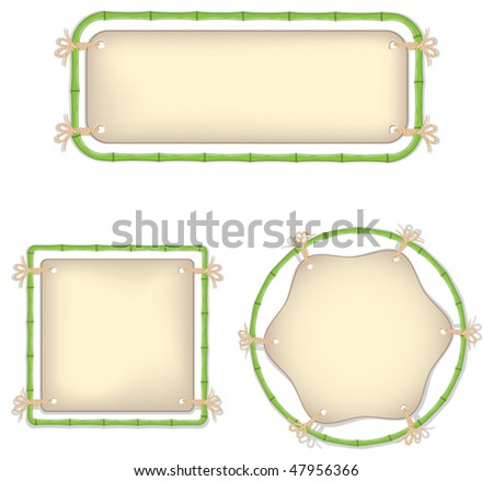 Bamboo frame with a stretched skin - stock vector