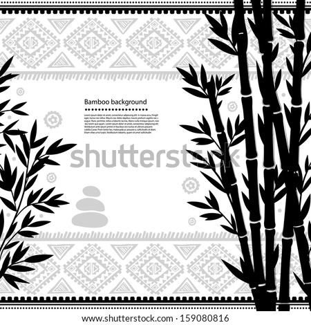 Bamboo illustration - stock vector