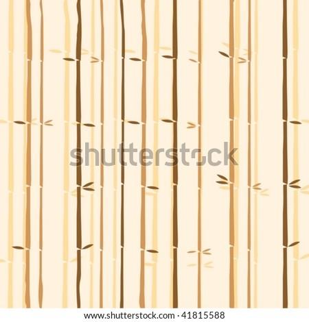 bamboo seamless texture - stock vector