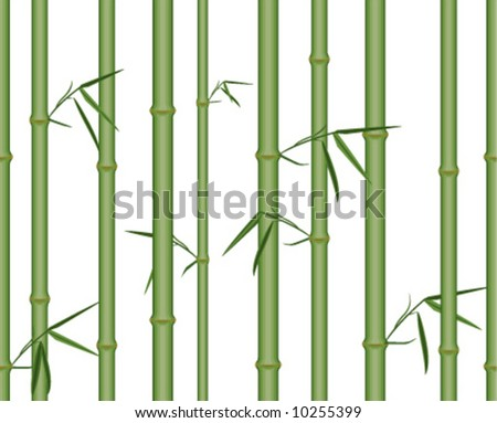 Bamboo 2. Seamless vector in any direction. - stock vector