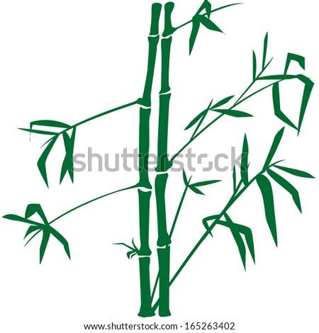 Bamboo Silhouette - stock vector