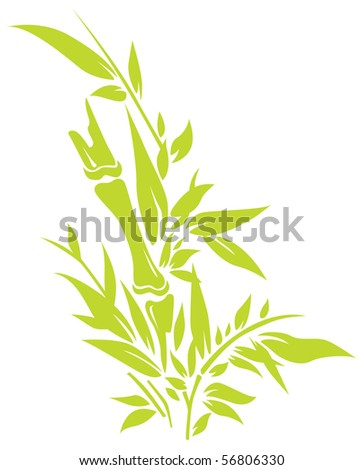 Bamboo tree silhouettes vector illustration - stock vector