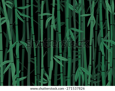 Bamboo trees on black - stock vector