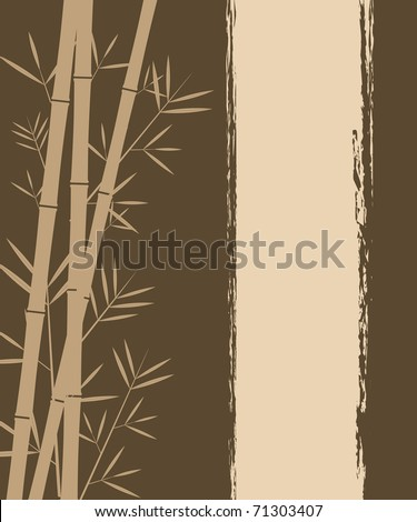 Bamboo vector background - stock vector