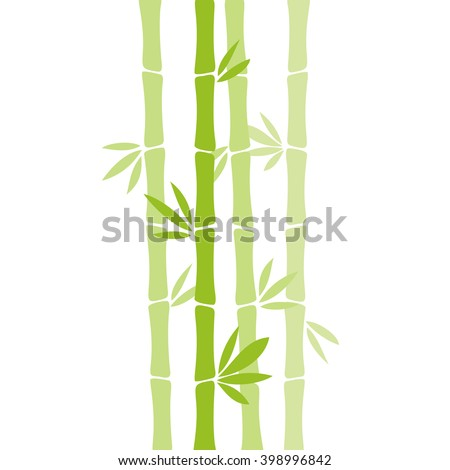 Bamboo vector illustration isolated on white background.