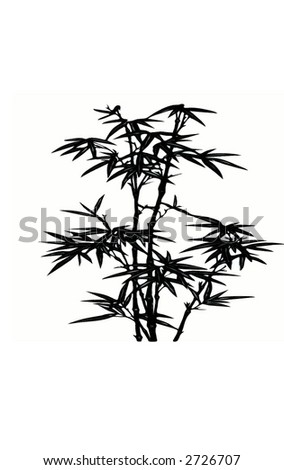 Bamboo vector isolated on white - stock vector