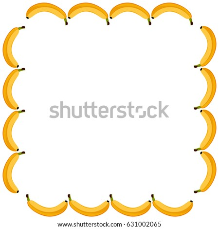 Banana Picture Frame Stock Vector HD (Royalty Free) 631002065 ...