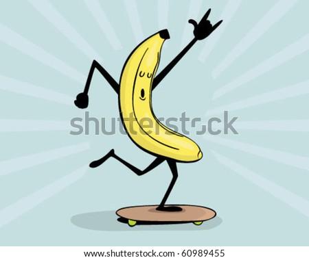 banana with attitude. - stock vector