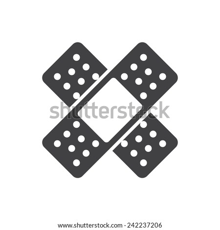 Band Aid, modern flat icon - stock vector