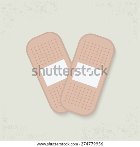 Bandage design on old background,clean vector