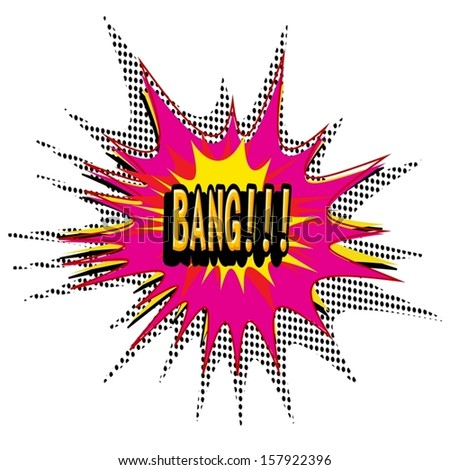 Bang Comic book explosion vector illustration background