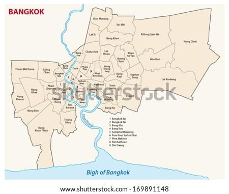 Bangkok administrative map stock vector 169891148 shutterstock bangkok administrative map sciox Gallery