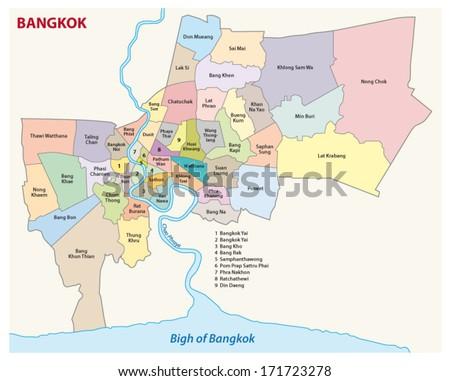 Bangkok administrative map 2 stock vector 171723278 shutterstock bangkok administrative map 2 sciox Gallery
