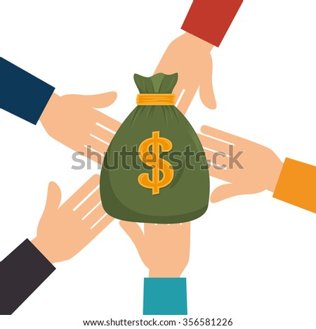 Bank and money savings graphic design, vector illustration eps10 - stock vector