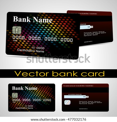 Bank card customer. Vector. The design for a credit card layout.