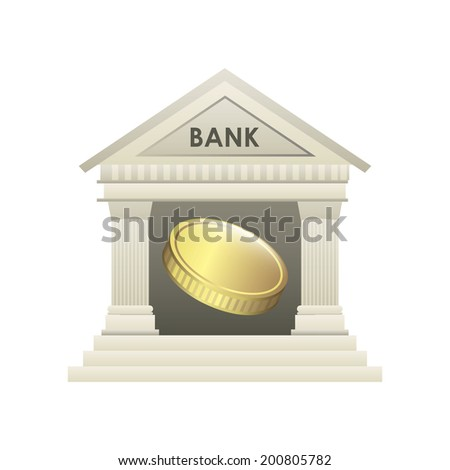 Bank design over white background, vector illustration